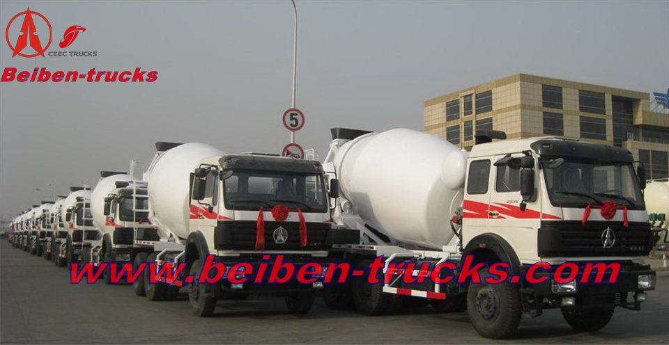 beiben concrete mixer truck for indonesia country
