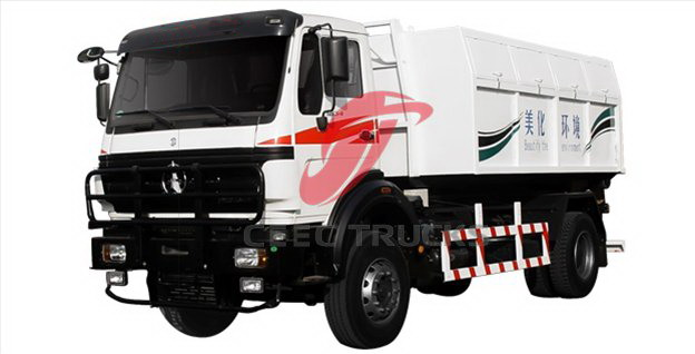 north benz garbage collector truck