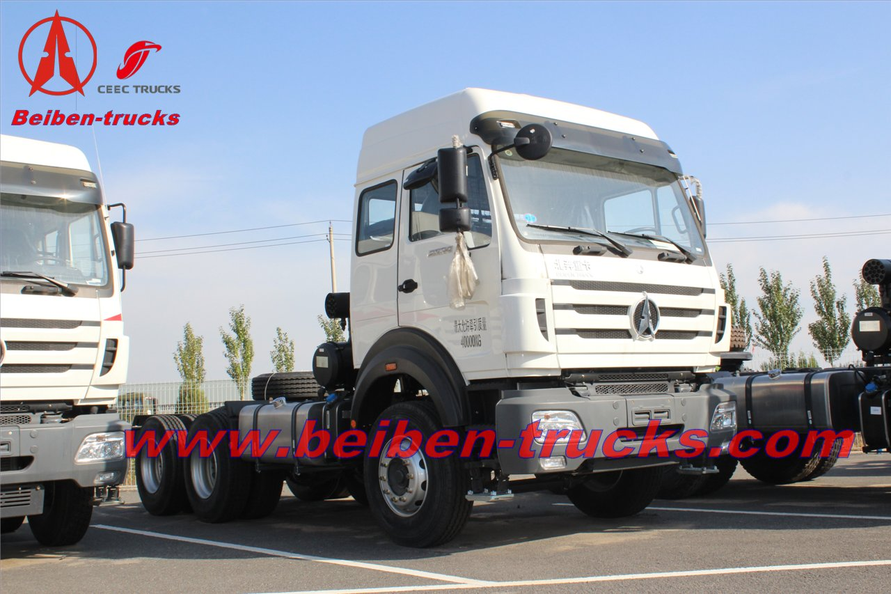 Beiben 480hp off road tractor truck/north benz for Africa