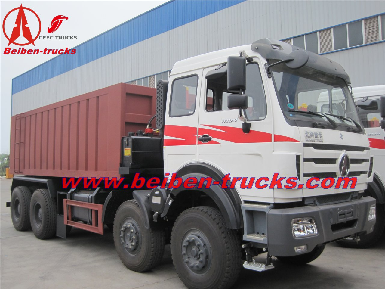 china beiben 50 T dump truck for mogolia country using