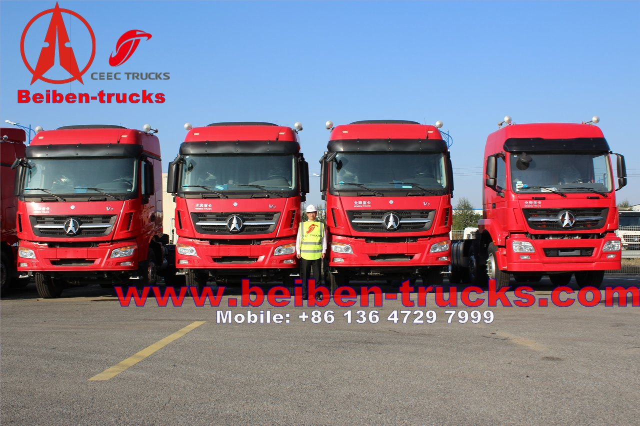 Beiben 6x4 375hp Mercedes Benz Technology North Benz/Beiben tractor truck for africa customer