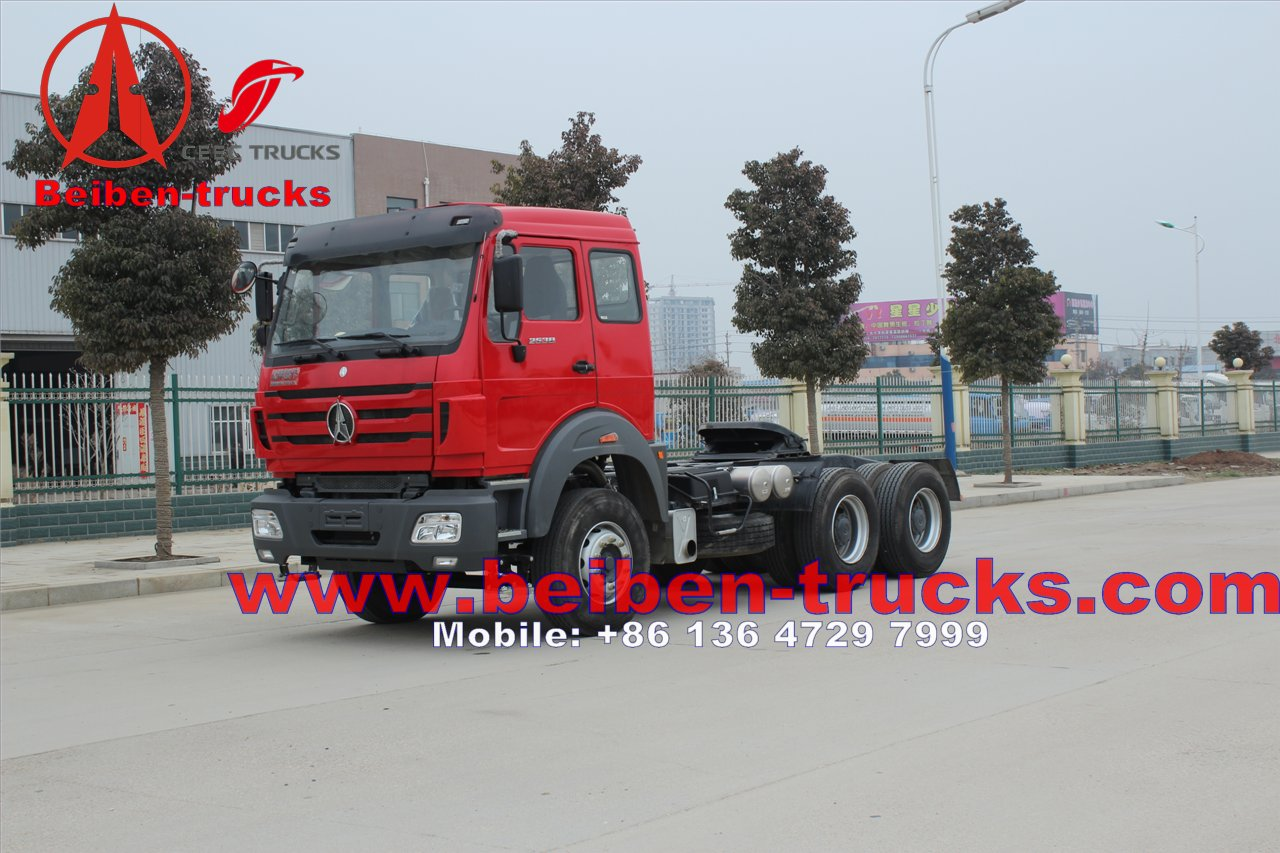 Bei ben 6X4 heavy duty tractor head truck 400hp ND42500B32J manufacturer from baotou beiben