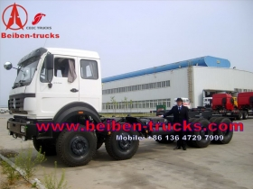 china beiben 8*8 drive military truck chassis supplier