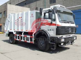 china beiben 10 CBM waste compactor truck price