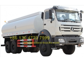 North Benz NG80 6x4 power star 20 ton water tank truck for sale