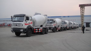 8 units beiben 2534K concrete mixer truck in stock for exporting