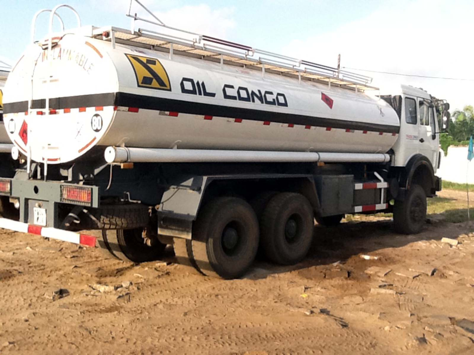 12 units 20 CBM beiben 2528 oil tanker trucks are exported to CONGO, kinshasa