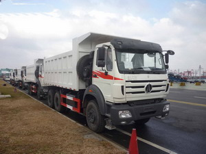 5 units Beiben right hand drive dump trucks export to Mozambique country