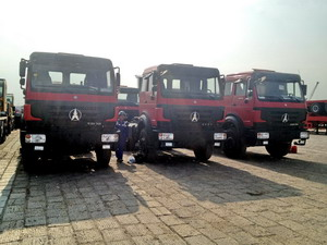 18 units beiben 2638 tractor trucks export to angol, luanda