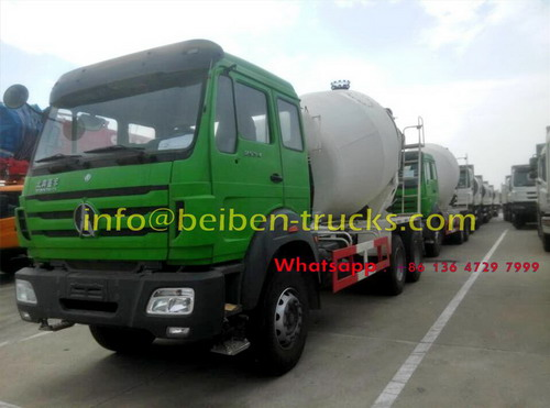 Beiben 2534 mixer trucks are shipped on roro vessel