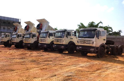 Best supplier for China beiben dump trucks in CONGO, pointe noire