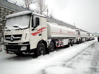 8 units beiben V3 12 wheeler fuel tanker truck export to middel asia country