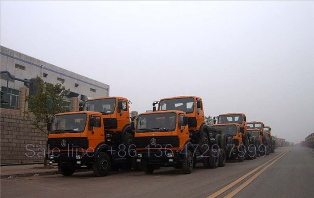 15 units beiben 2534 dump truck chassis export to Tanzania